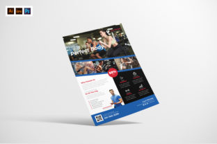 Fitness Flyer Design Graphic Print Templates By afahmy