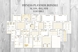 Fitness Planner, Fitness Tracker Graphic Graphic Templates By Igraphic Studio