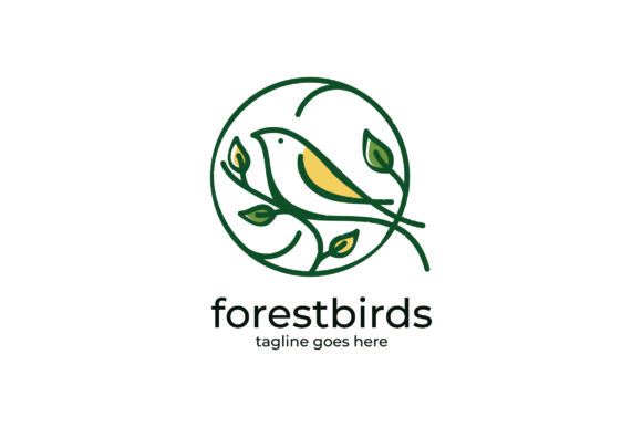 Forest Bird Logo Graphic Logos By Evloxx