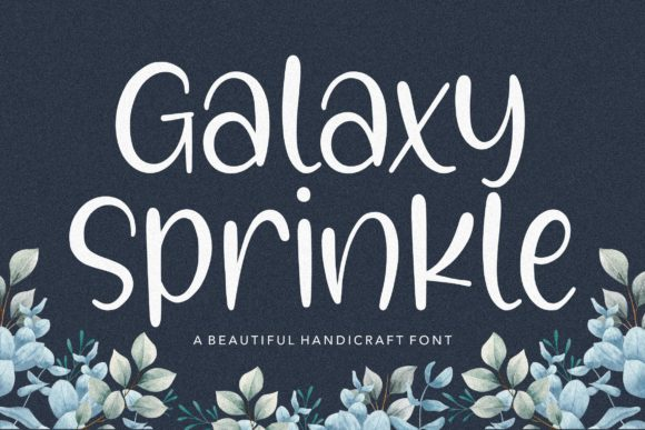 Print on Demand: Galaxy Sprinkle Script & Handwritten Font By Balpirick