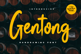 Print on Demand: Gentong Display Font By Productype