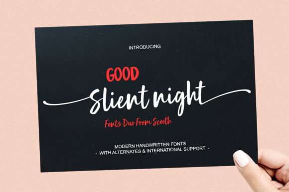 Print on Demand: Good Silent Night Script & Handwritten Font By scoothtype