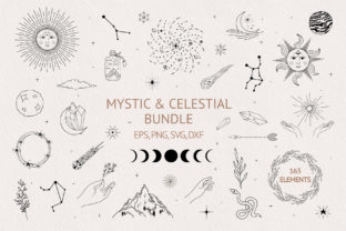 Hand Drawn Mystic & Celestial Bundle Graphic Illustrations By Kirill's Workshop