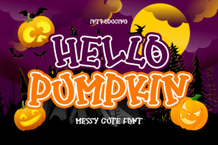 Print on Demand: Hello Pumpkin Display Font By airotype