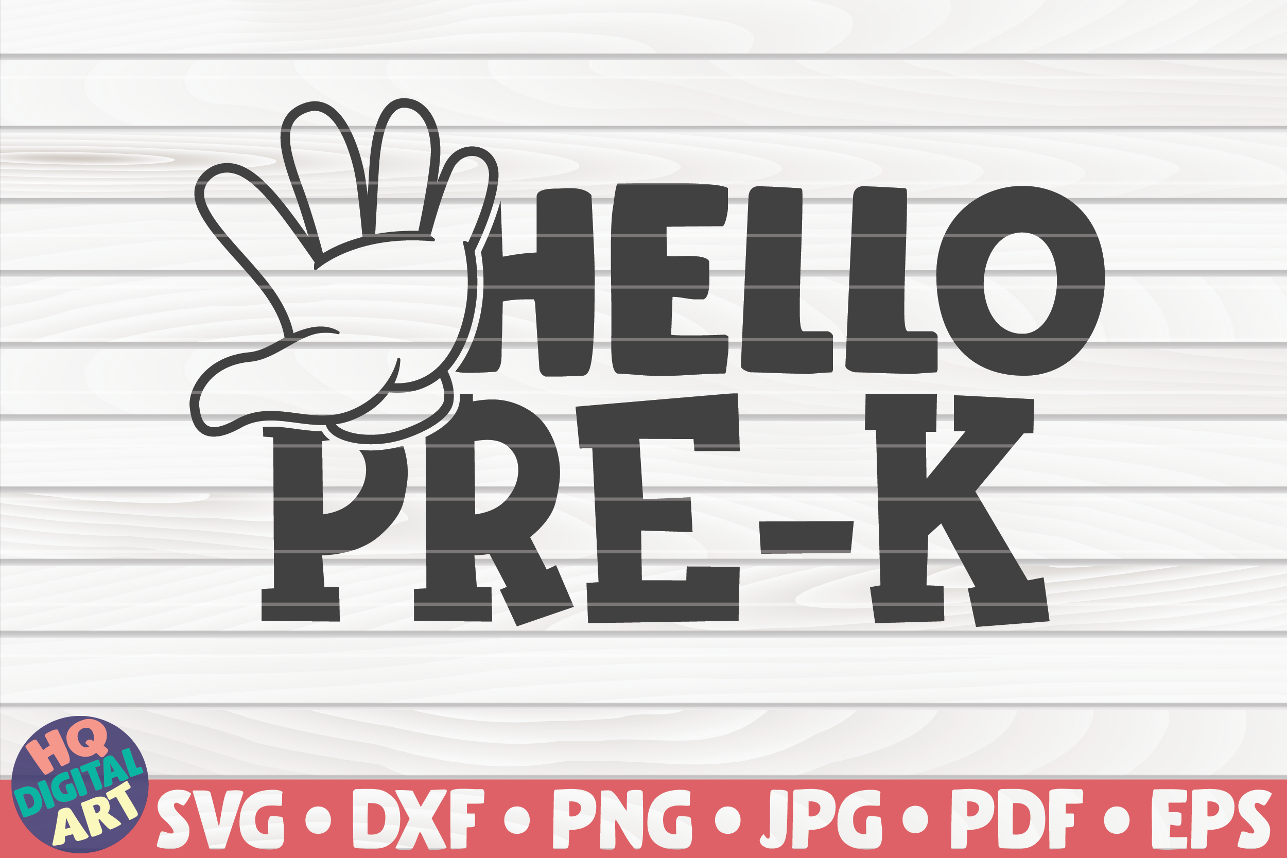 Hello Pre K Svg Back To School Quote Graphic By Mihaibadea95 Creative Fabrica