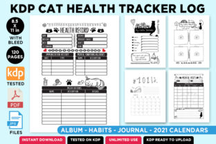 Print on Demand: KDP Cat Health Tracker Log Journal 2021 Graphic KDP Interiors By Queen Dreams Store