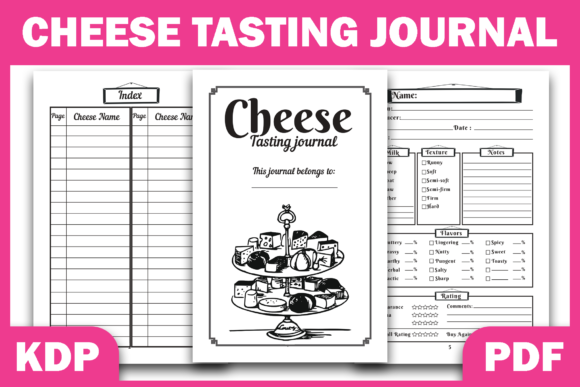 Print on Demand: KDP Interior Cheese Tasting Journal Graphic KDP Interiors By Fayne