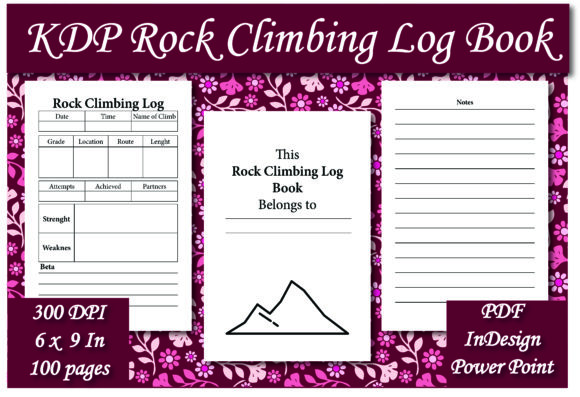 Print on Demand: KDP Rock Climbing Log Book Graphic KDP Interiors By Ivana Prue
