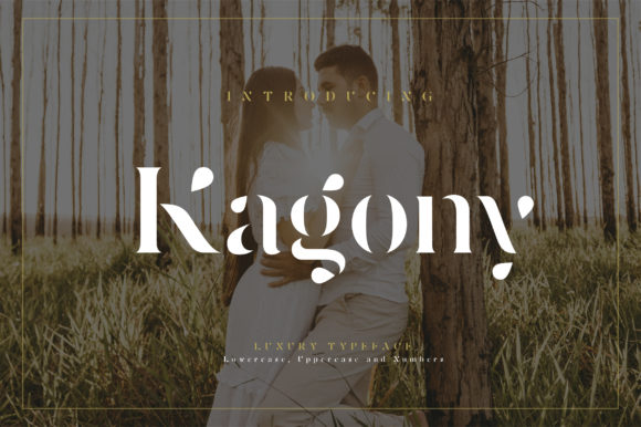 Print on Demand: Kagony Display Font By geengraphy