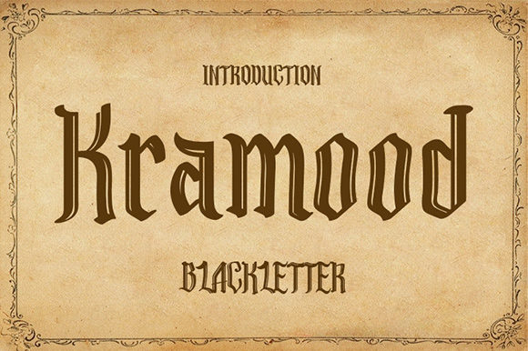 Print on Demand: Kramood Blackletter Font By Nico Muslib