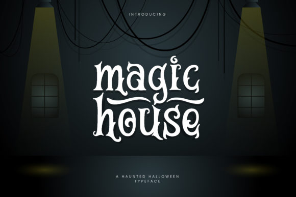 Print on Demand: Magic House Display Font By naulicrea
