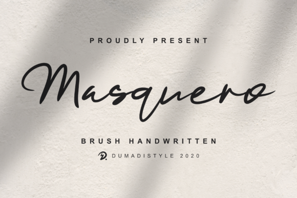 Print on Demand: Masquero Script & Handwritten Font By DUMADI