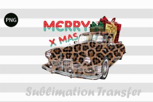 Print on Demand: Merry Christmas Truck Leopard with Gift Graphic Crafts By Creative Crafts