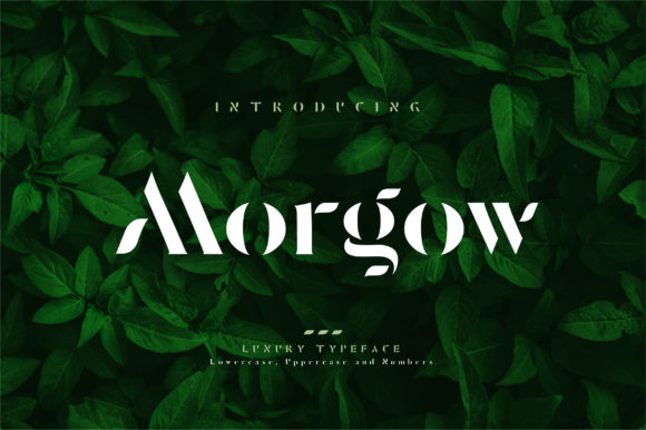 Print on Demand: Morgow Display Font By geengraphy