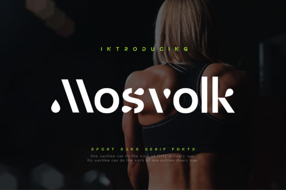 Print on Demand: Mosvolk Display Font By geengraphy