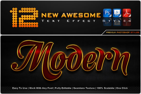 New Awesome Text Effect Styles (1) Graphic Add-ons By MualanaDesign