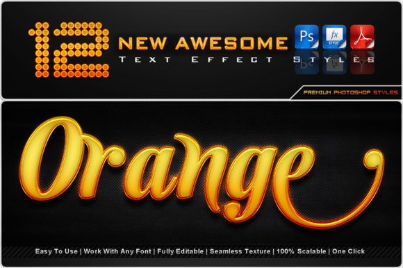 New Awesome Text Effect Styles (10) Graphic Add-ons By MualanaDesign