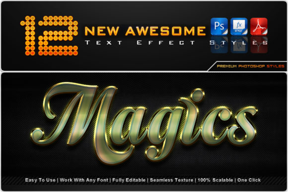 New Awesome Text Effect Styles (11) Graphic Add-ons By MualanaDesign
