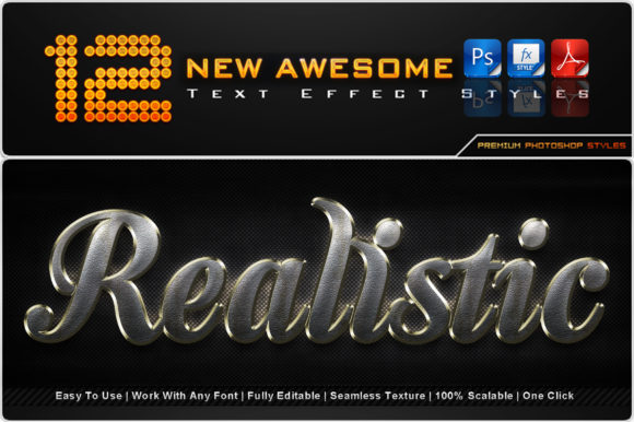 New Awesome Text Effect Styles (12) Graphic Add-ons By MualanaDesign