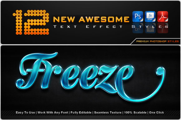 New Awesome Text Effect Styles (5) Graphic Add-ons By MualanaDesign