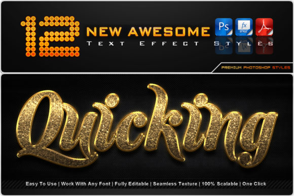 New Awesome Text Effect Styles (6) Graphic Add-ons By MualanaDesign