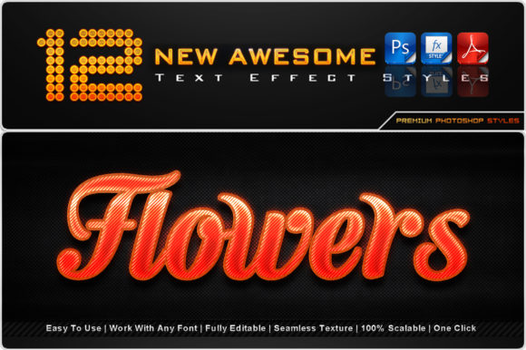 New Awesome Text Effect Styles (7) Graphic Add-ons By MualanaDesign