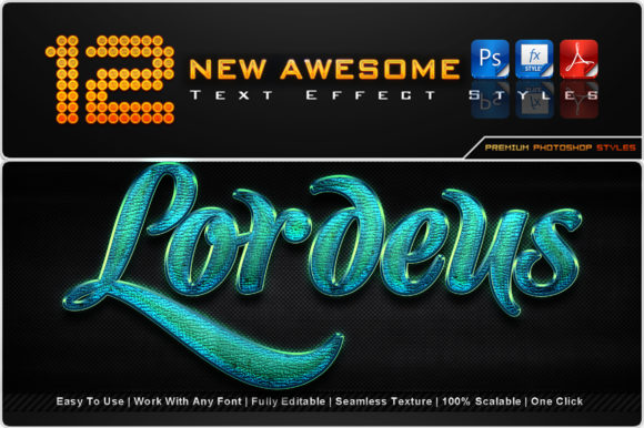 New Awesome Text Effect Styles (9) Graphic Add-ons By MualanaDesign