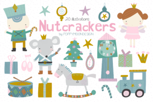 Print on Demand: Nutcrackers Clipart Graphic Illustrations By poppymoondesign