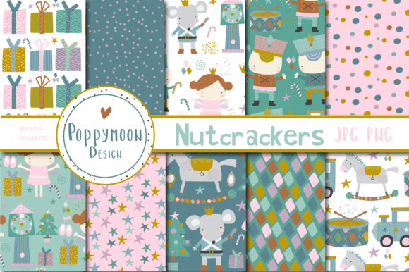 Print on Demand: Nutcrackers Paper Gráfico Moldes Por poppymoondesign