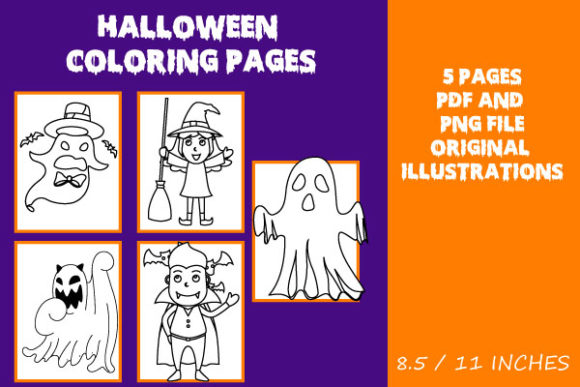Print on Demand: Original Halloween Coloring Pages Graphic Coloring Pages & Books Kids By Mah Moud