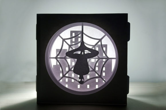 Papercraft Spiderman Shadow Box Graphic 3D Shadow Box By paperamaze