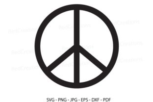 Peace Sign Peace Silhouette Graphic Crafts By RedCreations