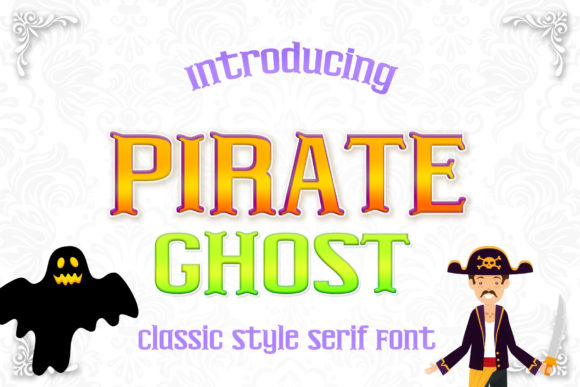 Print on Demand: Pirate Ghost Serif Font By numnim