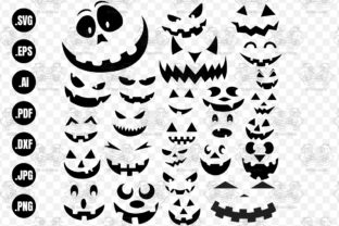 Print on Demand: Pumpkin Face Bundle, Jack O Lantern Graphic Print Templates By 99SiamVector