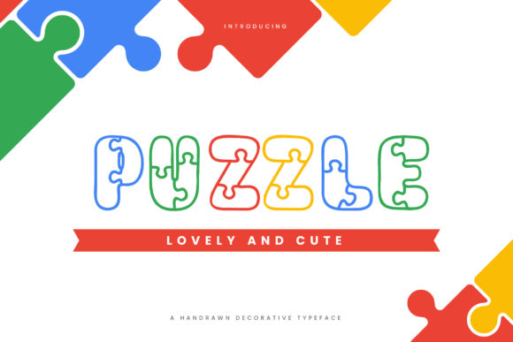 Print on Demand: Puzzle Decorative Font By naulicrea