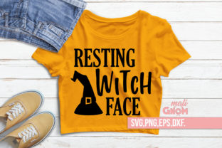Resting Witch Face Halloween Graphic Crafts By babyGnom