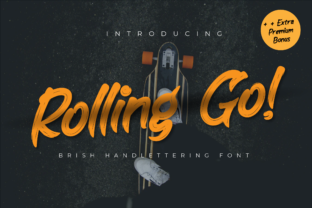 Print on Demand: Rolling Go Display Font By Productype