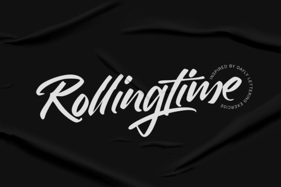 Print on Demand: Rollingtime Script & Handwritten Font By Cititype