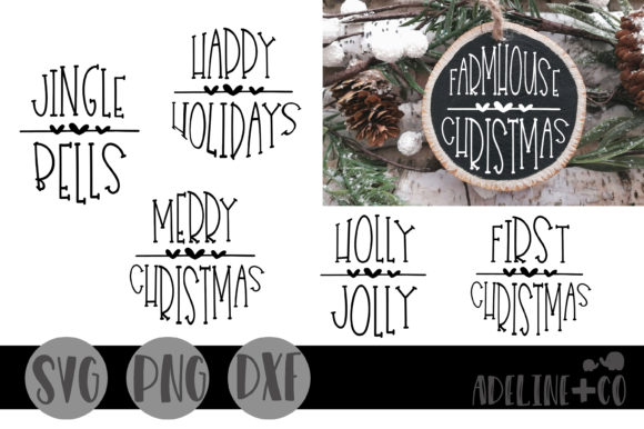 Round Christmas Ornaments Graphic Crafts By adelinenco