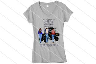 Print on Demand: Some Girls Drink and Ride PNG Gráfico Crafts Por Amy Anderson Designs
