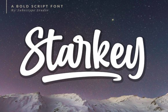 Print on Demand: Starkey Display Font By Subectype