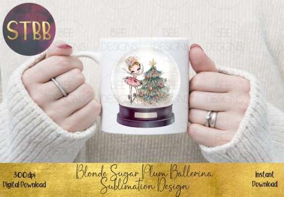 Sugar Plum Fairy Sublimation Design Graphic Illustrations By STBB
