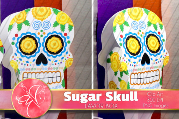 Sugar Skull Favor Box / Printable Mod.2 Graphic Crafts By paperart.bymc