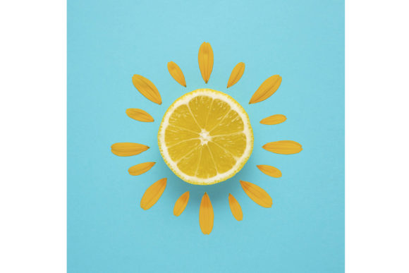 Sunny Day. Graphic Food & Drinks By Sasha_Brazhnik