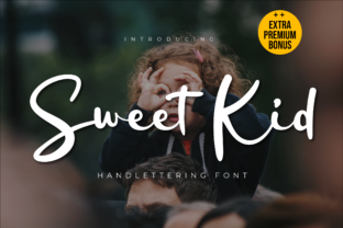 Print on Demand: Sweet Kid Script & Handwritten Font By twinletter