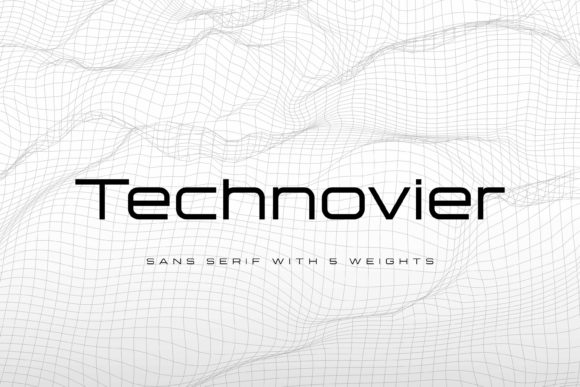 Print on Demand: Technovier Sans Serif Font By almarkhatype