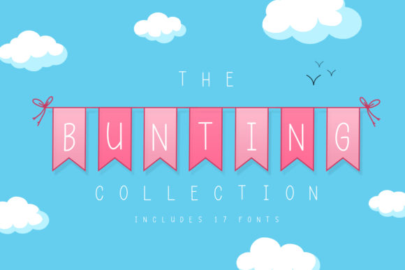 Print on Demand: The Bunting Collection Display Font By Salt & Pepper Designs