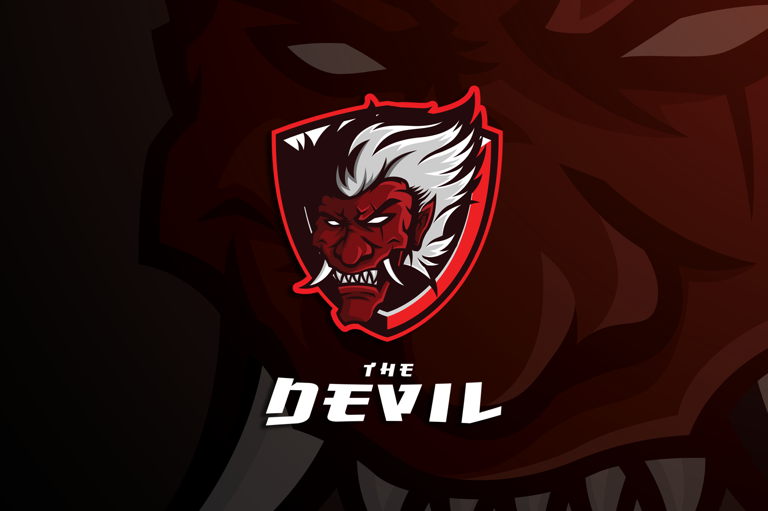 the devil head mascot logo graphic by arzuka artwork creative fabrica the devil head mascot logo