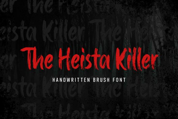 Print on Demand: The Heista Killer Display Font By almarkhatype