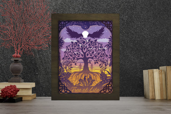 Tree of Life Light Box Shadow Box Graphic 3D Shadow Box By LightBoxGoodMan